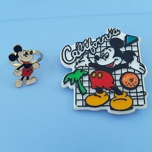 Vintage Mickey Mouse Ring and pin